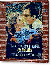 Acrylic Print featuring the photograph Casablanca Mural 2013 by Padre Art
