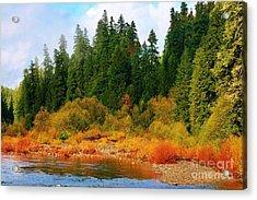 Cascade Autumn Acrylic Print