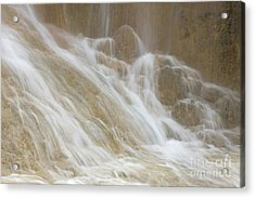 Cascade By The Limestone Pools In Huanglong Acrylic Print by Julia Hiebaum