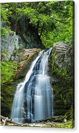 Acrylic Print featuring the photograph Cascade Falls In South Portland In Maine by Ranjay Mitra