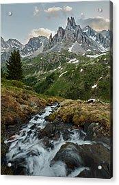 Cascade In The Alps II Acrylic Print