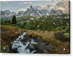 Cascade In The Alps Acrylic Print