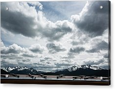 Acrylic Print featuring the photograph Cascade Outlook Manning Provincial Park by Elvira Butler