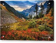 Cascade Pass Fall Acrylic Print