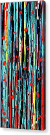Acrylic Print featuring the painting Cascade Pour by Carolyn Repka