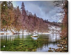 Acrylic Print featuring the photograph Cascade River Rocks by Spencer McDonald