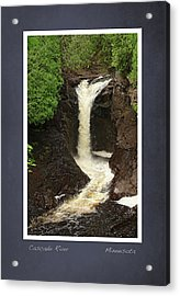 Acrylic Print featuring the photograph Cascade River Scrapbook Page by Heidi Hermes