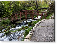Cascade Springs Bridge Acrylic Print