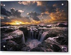 Cascades Of Kauai II Acrylic Print by Todd Kawasaki
