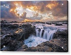 Cascades Of Kauai Acrylic Print by Todd Kawasaki