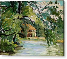 Cascadilla Boathouse Ithaca New York Acrylic Print by Ethel Vrana