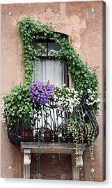 Cascading Floral Balcony Acrylic Print