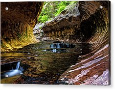 Cascading Pools Acrylic Print by James Marvin Phelps