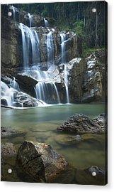Cascading Waterfalls Acrylic Print by Ng Hock How