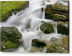 Cascading Waters Acrylic Print by Crystal Garner