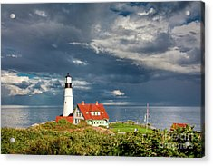 Acrylic Print featuring the photograph Casco Bay Lookout by Susan Cole Kelly
