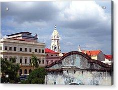 Casco Viejo Acrylic Print by John Rizzuto