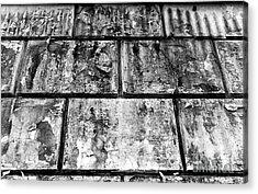 Casco Viejo Tiles Mono Acrylic Print by John Rizzuto