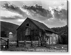 Mr Casey's Barn - Black And White Art Acrylic Print