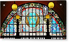Casino Stained Glass Acrylic Print by Sarah Loft