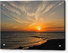 Caspersen Beach Gulf Coast Sunset  -  4 Acrylic Print by Frank J Benz