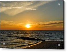 Caspersen Beach Sunset 1   -   Caspbch35 Acrylic Print by Frank J Benz