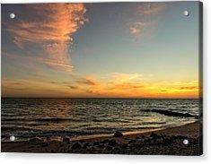 Caspersen Beach Sunset 3  -  Casbch65 Acrylic Print by Frank J Benz