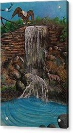 Casscading Waterfall Acrylic Print