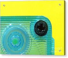 Cassette Tape Closeup Acrylic Print by Yali Shi