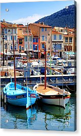 Acrylic Print featuring the photograph Cassis Harbor by Olivier Le Queinec