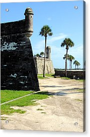 Acrylic Print featuring the photograph Castillo De San Marcos St Augustine Florida by Bill Holkham