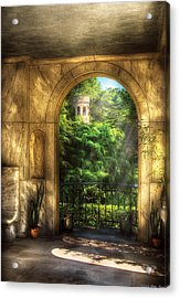 Castle - Just Beyond Acrylic Print by Mike Savad