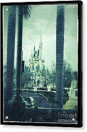 Castle Between The Palms Acrylic Print