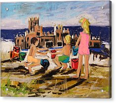 Acrylic Print featuring the painting Castle Builders by John Williams