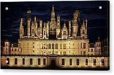 Acrylic Print featuring the photograph Castle Chambord Illuminated by Heiko Koehrer-Wagner