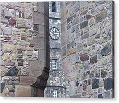 Castle Clock Through Walls Acrylic Print