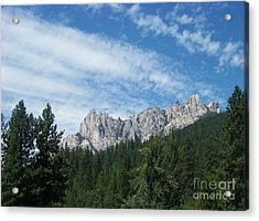 Castle Crags Acrylic Print by Charles Robinson