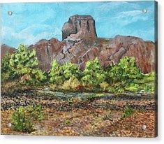 Castle Dome Flash Flood Acrylic Print