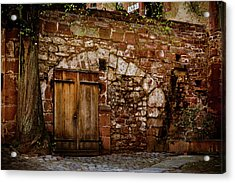 Castle Doors Acrylic Print by Jill Smith