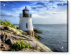 Acrylic Print featuring the painting Castle Hill Lighthouse by Christopher Arndt