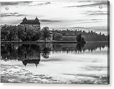 Castle In Black And White Acrylic Print