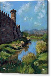 Castle In The Clouds Acrylic Print by Mary Benke