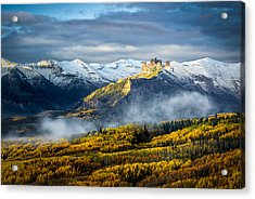 Acrylic Print featuring the photograph Castle In The Clouds by Phyllis Peterson