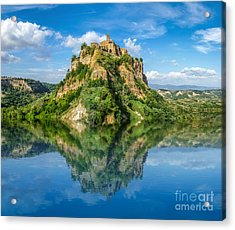 Castle In The Lake Acrylic Print