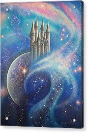 Castle In The Stars Acrylic Print by Krystyna Spink