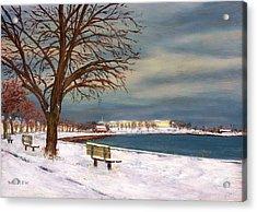 Castle Island - Winter Acrylic Print