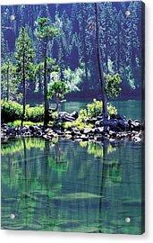 Castle Lake Acrylic Print by Jim Nelson
