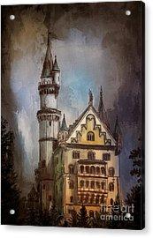 Acrylic Print featuring the painting Castle Neuschwanstein by Andrzej Szczerski