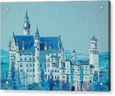 castle Neuswanstein Acrylic Print by Radchenko Julia