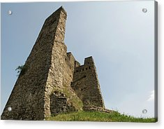 Acrylic Print featuring the photograph Castle Of Dasburg Near The Ardennes  - Natioanlpark Eifel - Germany by Urft Valley Art